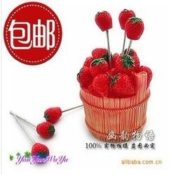 2051 creative fruit fork, fork barrel strawberry fruit, bottled strawberry fruit fork