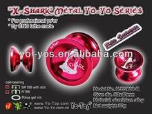 "HJ's Competitive Professional Metal Aluminum Yo Yo ""Red - Shark"""