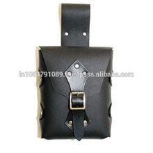 Medieval leather bag,Larp leather bag,warrior bag,dagger bag,genuine leather bag,side waist hanging bag,movie replica bag