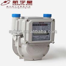 IC Card Prepaid Aluminium Case Digital Diaphragm Gas Meter G2.5