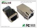 Pulgadas 1.3 gigabit poe rj45 conector con el transformador y leds