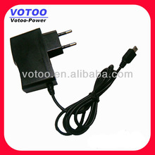 EU Plug wall mount 5V 1A Micro USB AC DC Power Adapter 110V - 240V AC