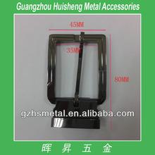 35x80mm Gunmetal color square shape metal pin belt buckles