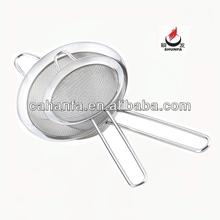 10cm tamaño de buena calidad y precio barato colador de acero inoxidable colador de aceite