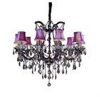 Modern fancy indoor decorative crystal plastic chandelier