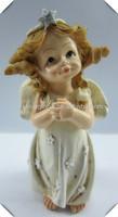 Resin small young girl figurine