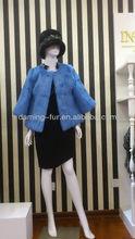 2014 top fashion women cheap black blue beige rabbit fur jacket