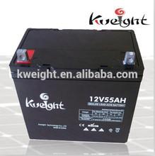 AGM battery 55AH 12V sealed lead acid battery ups battery