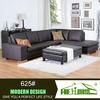 625#italy leather sofa l shape black leather purple sectional sofa