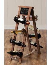 Stair shape 8 bottles oak corner wine rack kits