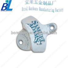Customized wall mounted metal hand-tool bottle openers