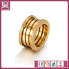 Hot wholesale men thread zircon stainless steel ring
