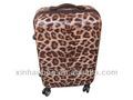 Nouveau design imprimé léopard pc. brillantematériel chariot à bagages
