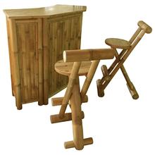 BTB113 - Bamboo Bar Counter Set with 2 Stools/Bar Counter/bamboo Furniture