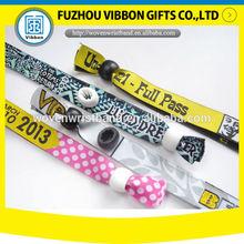 festival custom elastic fabric bracelet woven national flag