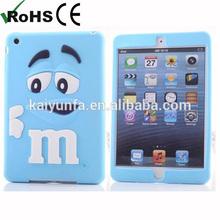 Cartoon soft silicone case for Ipad mini 2 protect back cover