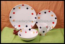 16pcs Ceramic Dinnerware Stoneware made in china Restaurant Used Dinnerware