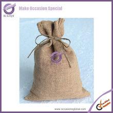 Hot sale burlap bags wholesale hessian gift bags sacks/burlap gift bags for sale wholesale