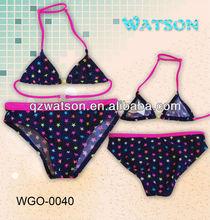 2014 new young kids swimsuit model # WGO-0040 bikini swimwear