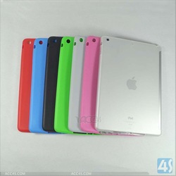 Frosted and Transparent TPU Buddy Case Work with Smart Cover for iPad 5 P-iPD5TPU004