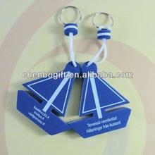 Promotional gift custom eva floatable Key chain, sponge foam key chain,sail boat key chain