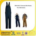 القطن لهب nfpa70e bib سروال لفصل fr ملابس واقية