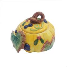 2015 Thanksgiving Gift Yellow Pumkin Decorative Custom cheap cookie jars