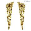 Slice Diamond Earrings Jewelry, Indian Gold Jewellery, Diamond Dangle Earrings, 14k Yellow Gold Jewelry Supplier