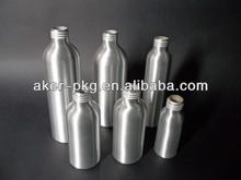 Different sizes empty aluminum vodka bottle
