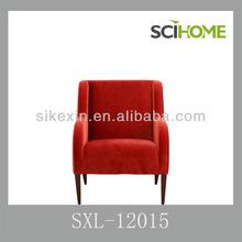 modern sofa set fabric armchair red single chair