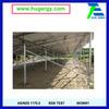 Ground screw mounted aluminum solar panel frame