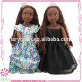 Grossista preto boneca, tecido boneca brinquedos