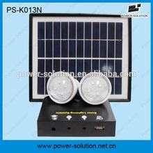 portable solar camping kit with 2pcs bulbs