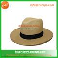 panama moda chapéu de palha com flor da decoração