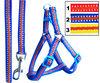 Polyester fibre Step-in Dog Pet Walking Harness Leash Set Adjustable Chest C1446