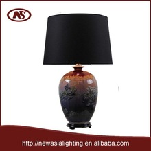 2015 Chinese cassical and unique value and traditional imperial landscape oil painting type ceramic table lamp