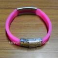 in acciaio inox sport braccialetto del silicone per la donna