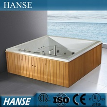 1810mm antique wooden bathtubs/wooden frame bathtub/square wooden bathtub HS-B1828T
