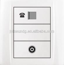 Industrial socket,telephone and TV wall socket