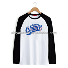 print tees long sleeves white and black tees