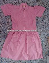 100% Cotton Fabric School Uniform For Girls