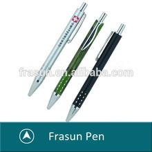Wholesales Click Engraved Barrel School Aluminum Ballpoint Pen Promotional