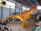 Moving Dinosaur Mascot of Hide Actor's Leg Mascot