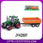 Children plastic toy tractor trailers