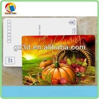 customized 3d lenticular postcard for thanksgiving