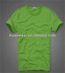 2014 men 100%cotton solid color t shirt