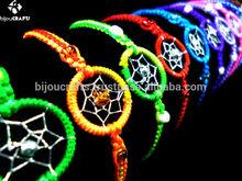 Woven Bracelet Friendship with Macrame Thread. Handmade