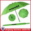 pure green high-quality customized logo promotional golf umbrella