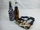 Sublimation or Screen Print Neoprene Zipper Beer Bottle Cover