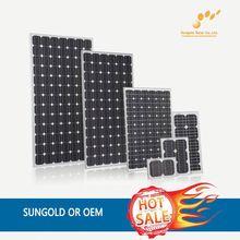 OEM 100 watt monocrystalline solar panels --- Factory direct sale